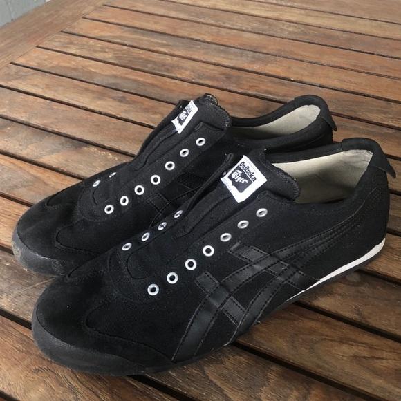 onitsuka tiger mexico 66 slip on black xs